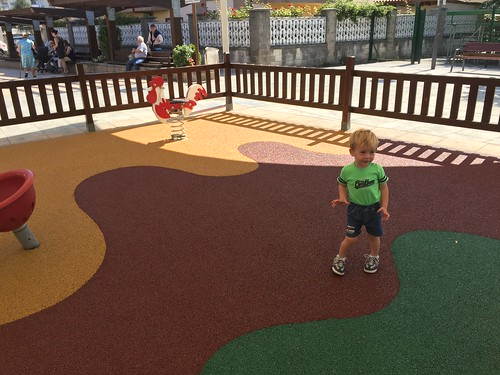 Ian tries out new playground