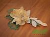 CA105 - flor para penteado de noiva by Modè Flores de tecido e couro