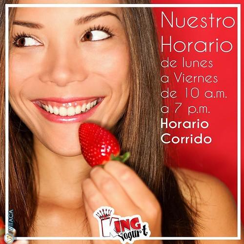 ++++++++++++++++++++++++++++++ KING YOGURT DE LUNES A VIERNES DE 10AM - 7PM C.M. @witaca #Kingyogurt #frutas #divino #YOGURT #SALUD #saludable #batidos #frozen #smoothie #frigurt #sano #igersvenezuela #coro #igersvenezuela #lara #barquisimeto #falcon #pun