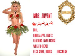 Mrs. Advent - my item for the First Noel Marketplace Hunt - 5 L$
