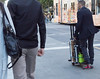 Skateboard, luggage, scooter