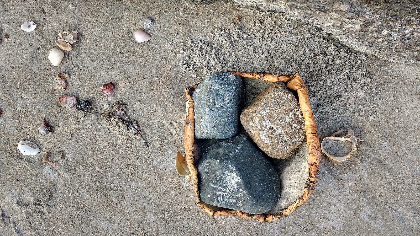 Tray of stones