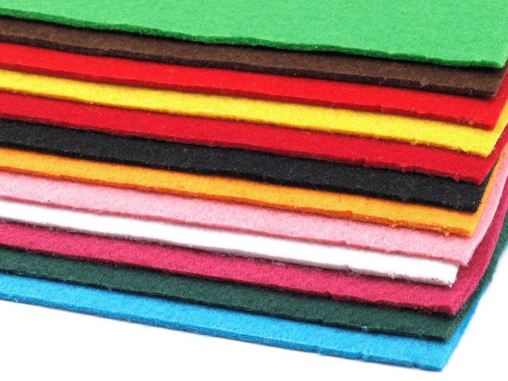 Filz (Stärke 2 - 3mm) Mix 2, VE: 12 Bögen