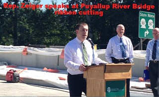 Rep. Zeiger speaks at Puyallup River Bridge ribbon cutting