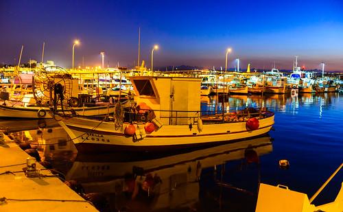 sunrise boats cyprus bluehour larnaca fishingport psarolimano