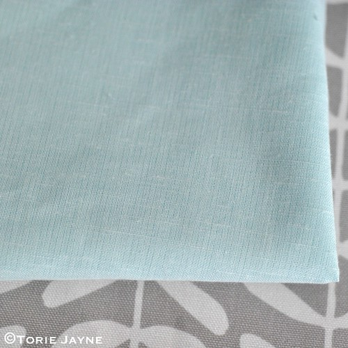 Duck egg blue poly cotton