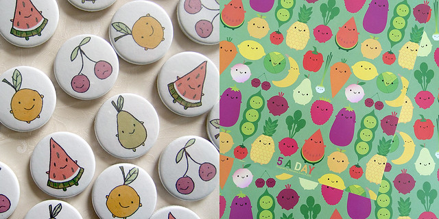 7 years at Folksy - fruity characters then and now