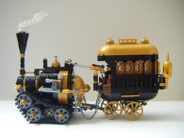 lego steampunk meat wagon