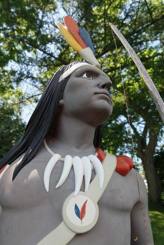 Indian statue. Maine.