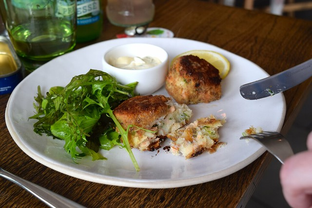 Mixed Fishcakes at The Boatyar, Isle of Man