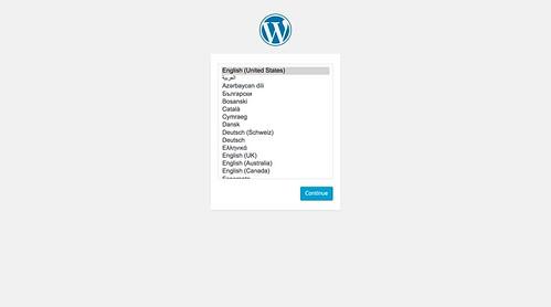WordPress 4.3 のインストール時言語選択
