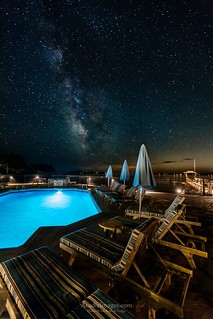 Salt Water Pool Starry Night at Spruce Point Inn Resort