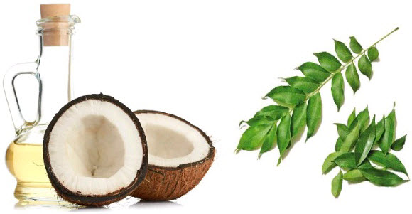 Curry Leaves and Coconut Oil For Natural Hair care