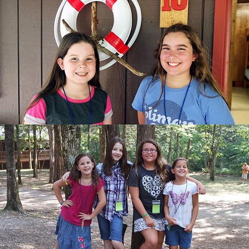 Girls have all been dropped off at camp for the week with no tears on anyone's part. So excited for the fun week they are going to have. ⛺️