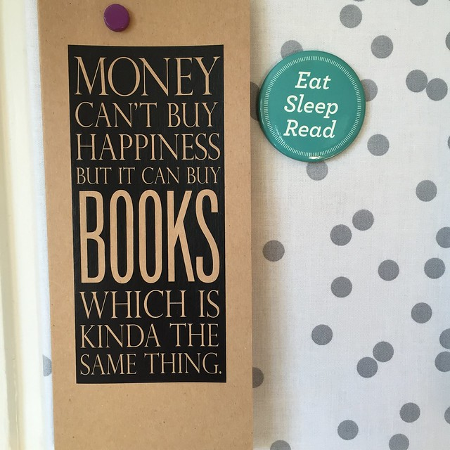 money can't buy happiness but it can buy books which is kinda the same thing