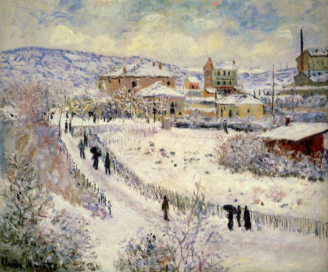 View of Argenteuil in the Snow by Claude Oscar Monet - 1875