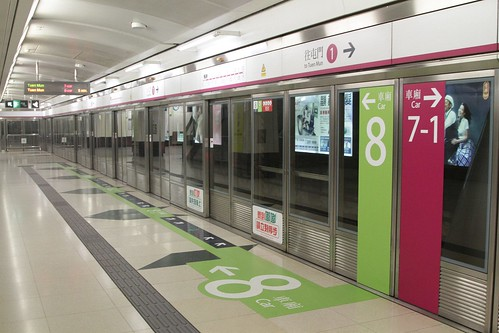 A handful of 8-car long SP1900 trains now in service on the MTR West Rail line