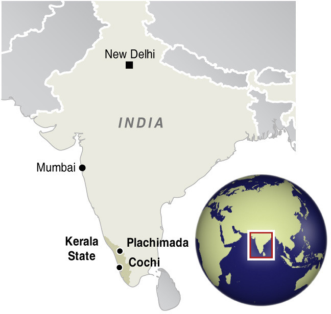Reference map for Kerala State, India | GRID-Arendal