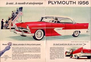 1956 Plymouth Belvedere Sport Sedan Ad (Canada)
