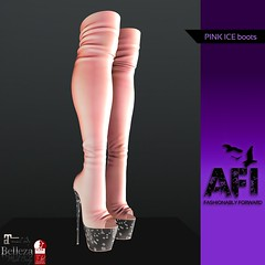 AFI Designs ~ PINK ICE BOOTS AD