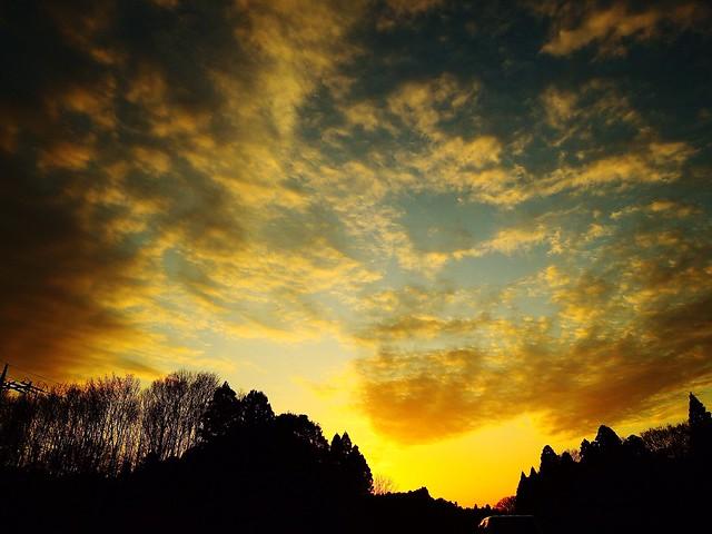 おつかれさま。 Sunset おつかれさま Twilight Afterglow 夕暮れ時 NikonP330, Nikon COOLPIX P330