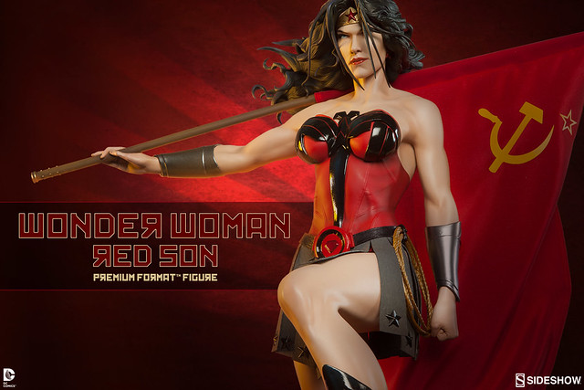 Sideshow Collectibles【神力女超人】Wonder Woman Red Son 1/4 比例 全身雕像