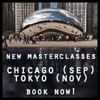 Tokyo and Chicago 2015 Masterclasses - book now!