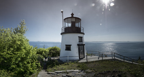 ocean sky sun lighthouse water sunrise maine owlsheadlighthouse