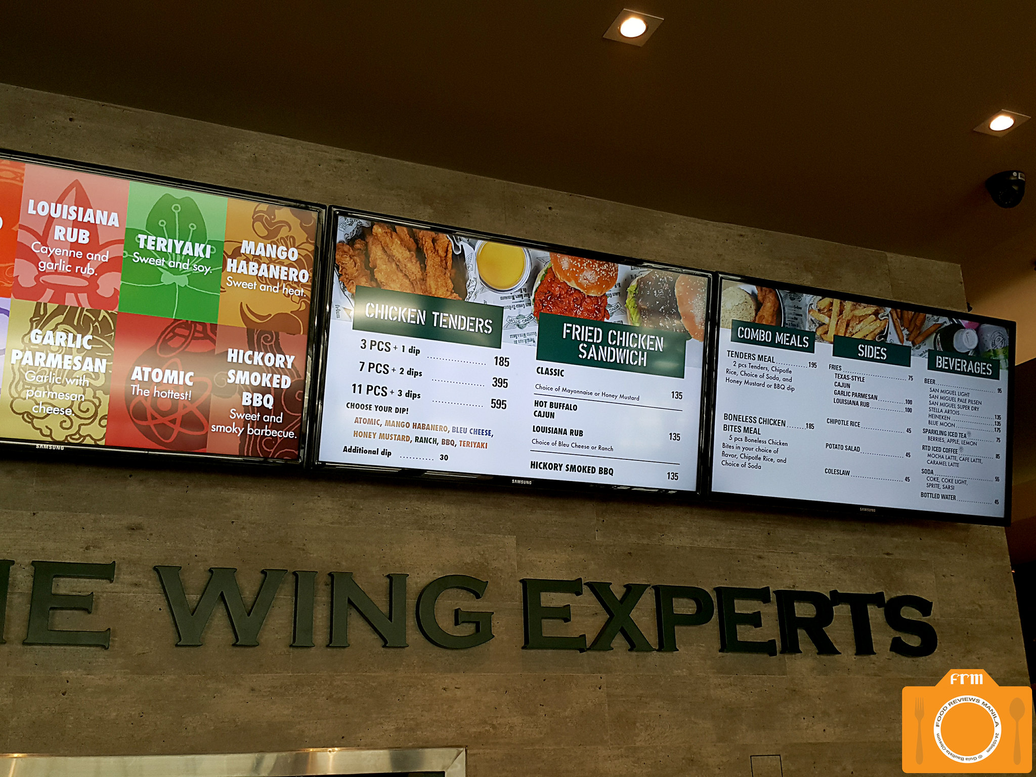 Wingstop menu board 2
