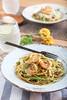 [210/365] Pesto shrimp pasta