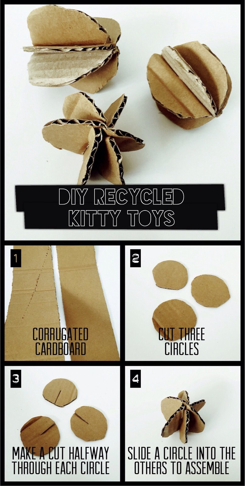 DIY Recycled Kitty Toys Tutorial