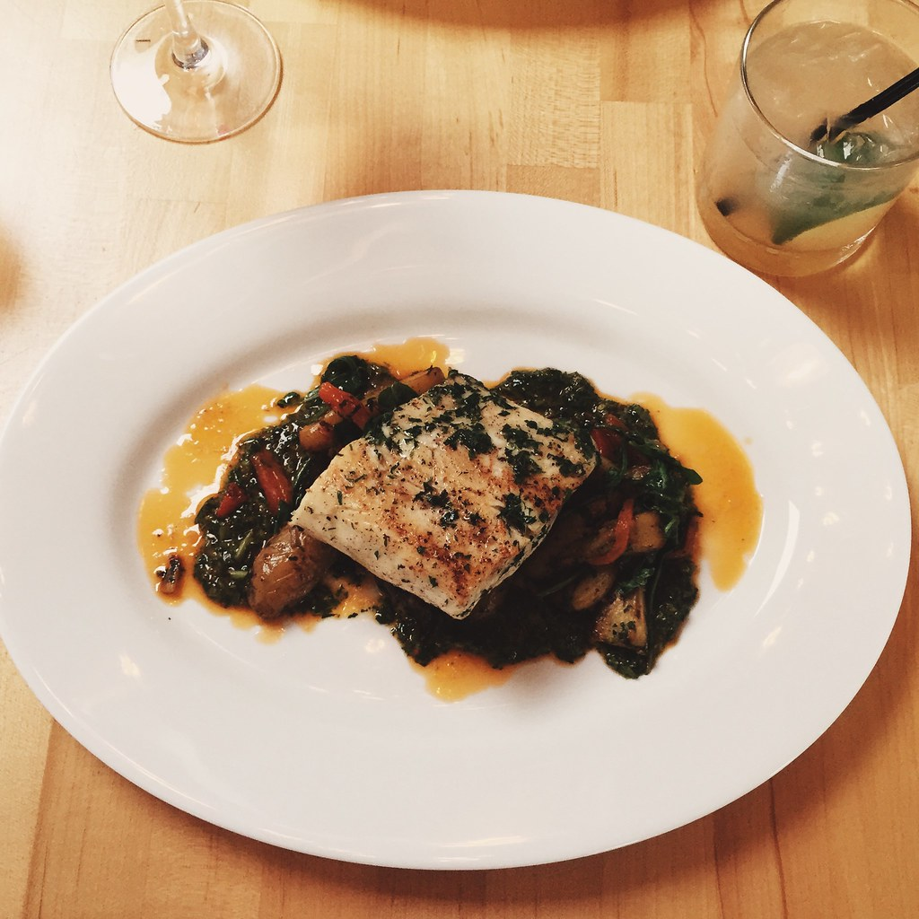 Striped Bass | Taken at 5 Corners Kitchen in Marblehead, MA ...