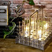 """Industrial Vintage / Antique (32 count) Test Tube Beakers with a Metal Carrier Re-purposed into a """"One of a kind"""" Up-cycled Desk Lamp"""