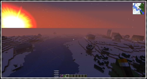 Minecraft Sunrise