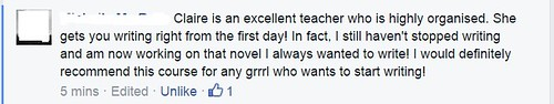 Lovely feedback on my writing course, Write Like A Grrrl!