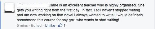 Lovely feedback on my writing course, Write Like A Grrrl!