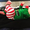 This little elf was excited for yoga earlier today.