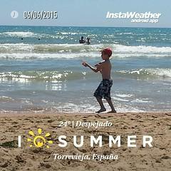 I love Summer!! :blush: #instagramers #igersguardamar #igers #Alacant #Alicante #Costablanca #verano #verano2015 #playa #MarMediterraneo #beach #summer #summer2015