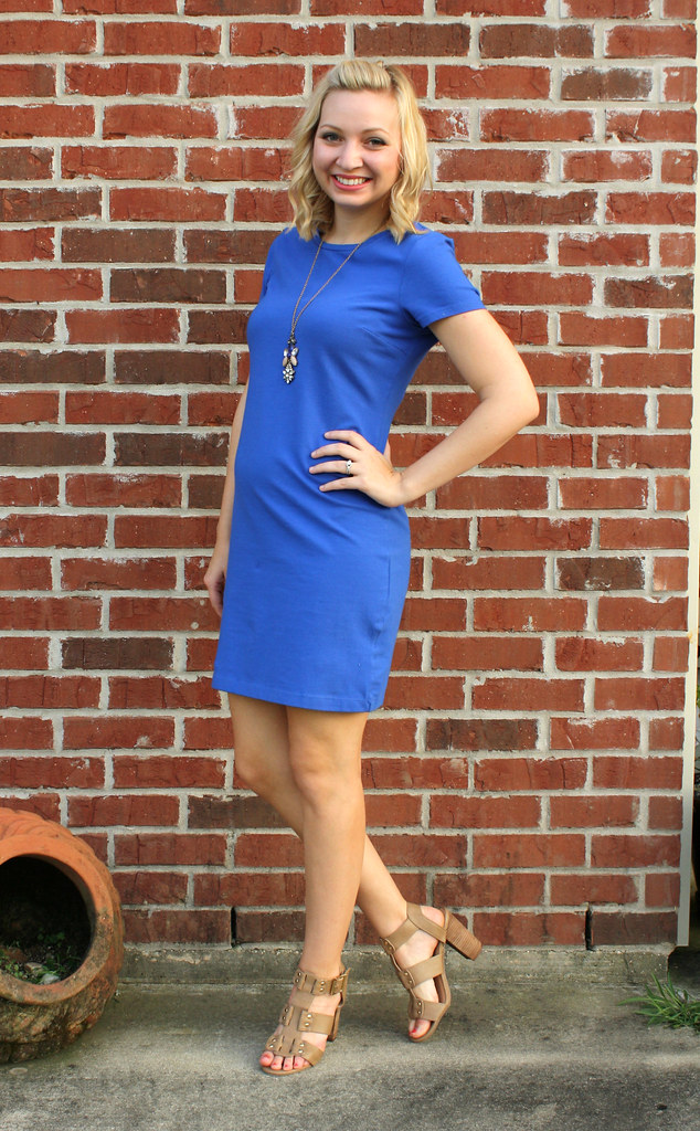 blue t shirt dress