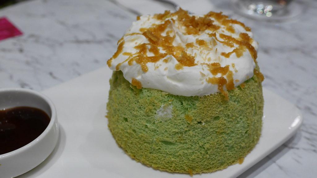 Gula Melaka Pandan Cake (S$8.90), fresh from the oven