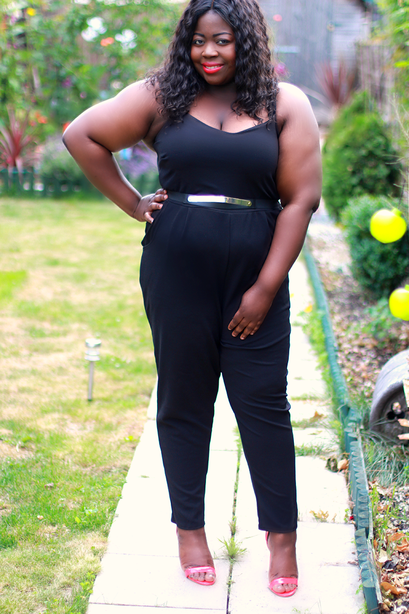 Yours Clothing Black Jumpsuit