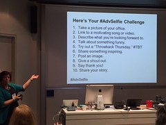 Have you posted your #AdvSelfie yes? Share how you support students, staff & faculty in #highered