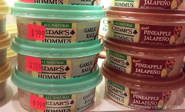 Cedar's Garlic Kale and Pineapple Jalapeno Hommus