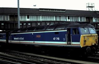 91-207  Class 47/7 No. 47-715 'Haymarket' at Clapham Junction