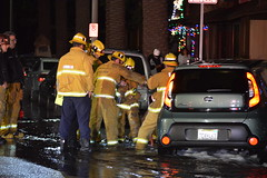 Car Topples Hydrant in Panorama City