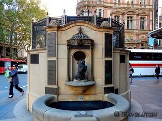 퀸 빅토리아 빌딩 시드니 근처 의 이미지. queen victoria fountain dog building landmark sydney australia