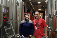 Co-founder Regan Long and head brewer Patrick Murphy; Local Brewing