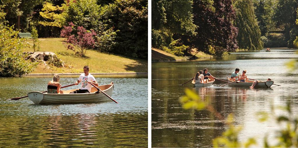 Row across the Lac Inferieur, Bois de Boulogne, Paris