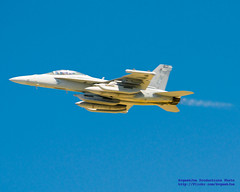 EA-18G OF VAQ-138 PLUGGING IN THE BURNERS!