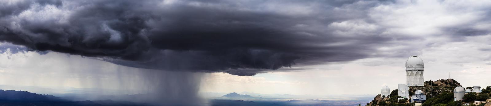 Storm Clouds approach Kitt Peak